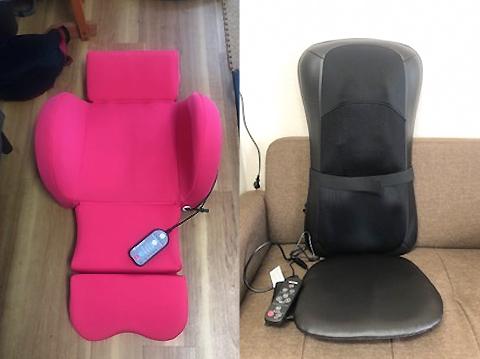 横浜市の整体 こころとからだのセラピールームの座椅子型マッサージシート