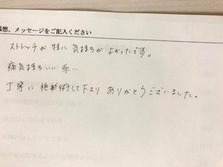 ご感想(2019年1月)
